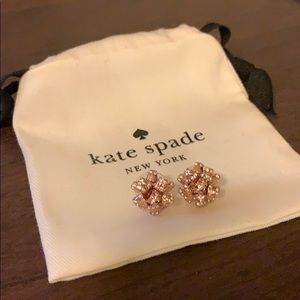 Kate Spade Bourgeois Bow rose gold earrings